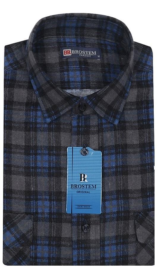 bfac891c5dc Купить Мужская фланелевая рубашка BROSTEM F104H с примеркой