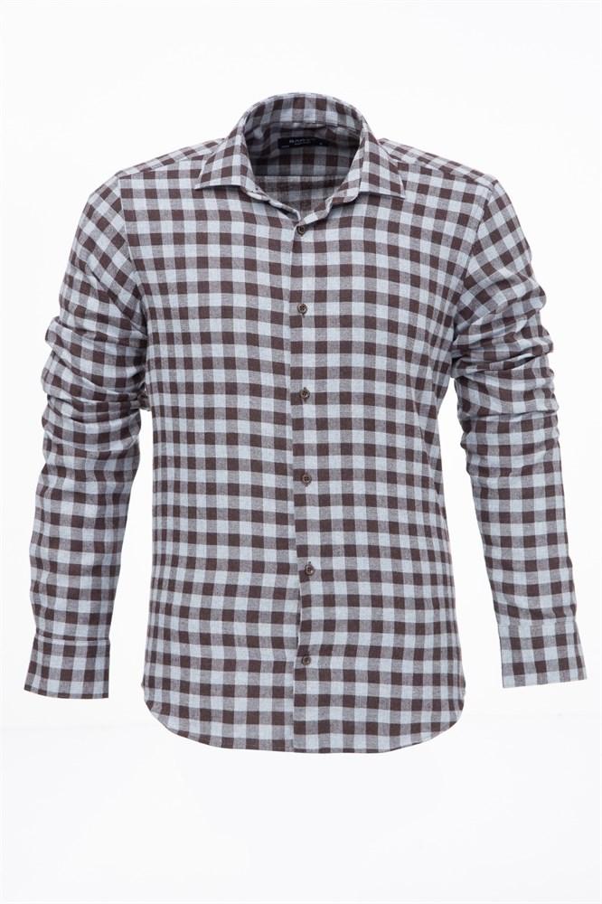 1a58dff79ca Купить Мужская рубашка из фланели P-4110-09 с примеркой
