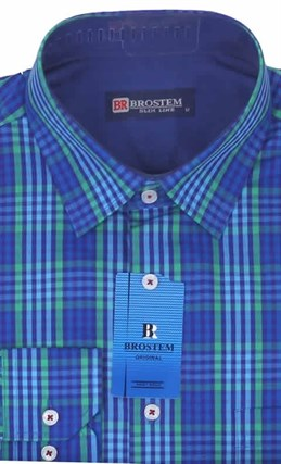 Мужская рубашка большого размера BROSTEM K6-272-G - фото 10121