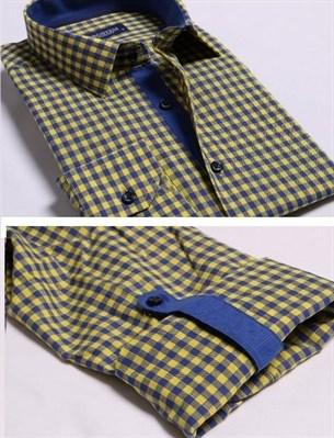 Большая желтая рубашка со льном 8LG9-3g BROSTEM - фото 10142