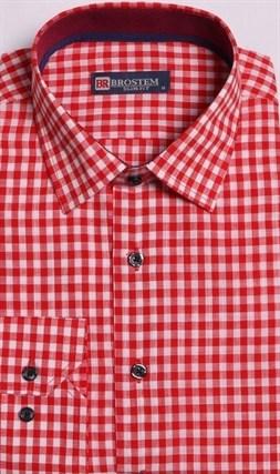 Большая оранжевая рубашка со льном 8LG9-5g BROSTEM - фото 10145