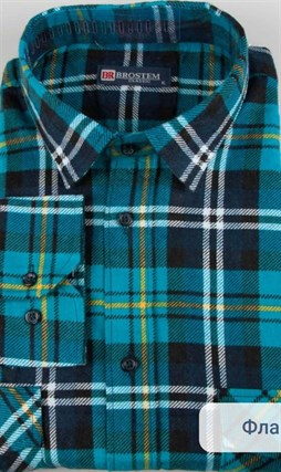 Фланелевая рубашка 100% хлопок BROSTEM F11320-4 - фото 10262