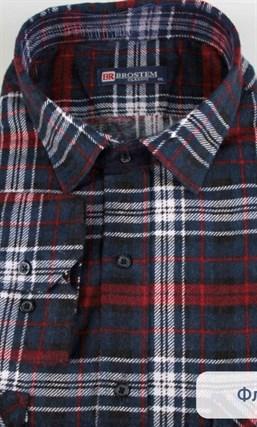 Фланелевая рубашка 100% хлопок BROSTEM F11317-1(F-211)(F1821567-3) - фото 10270