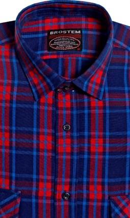 Большая фланелевая рубашка BROSTEM KA5052g - фото 10323