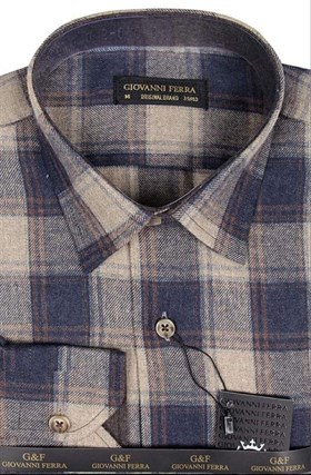 Фланелевая рубашка шерсть/хлопок AS 540-6 - фото 10328