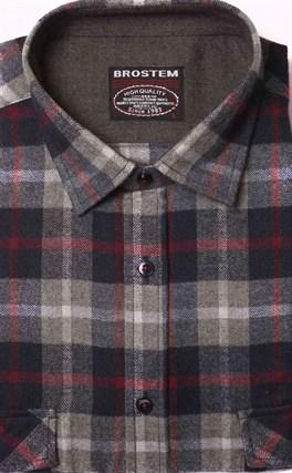 Фланелевая рубашка хлопок/шерсть BROSTEM KA1 - фото 10344