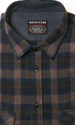 Фланелевая рубашка хлопок/шерсть BROSTEM KA4 - фото 10346