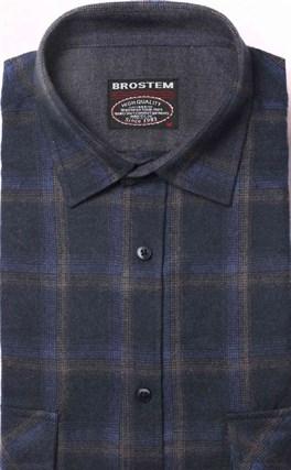 Фланелевая рубашка хлопок/шерсть BROSTEM KA7 - фото 10348