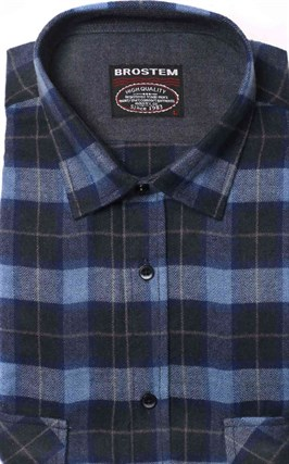 Фланелевая рубашка р. L хлопок/шерсть BROSTEM KA5 - фото 10350