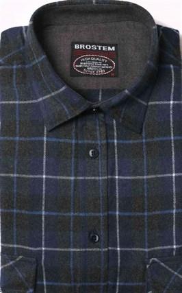 Фланелевая рубашка хлопок/шерсть BROSTEM KA9 - фото 10354