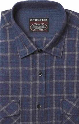 Полуприталенная фланелевая рубашка с шерстью KA9L5-6 - фото 10356