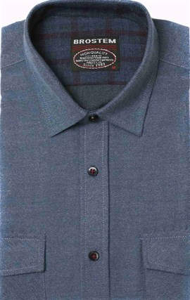 Полуприталенная фланелевая рубашка с шерстью KA9L5-1 - фото 10359