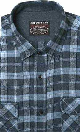Полуприталенная фланелевая рубашка с шерстью KA9L5-4 - фото 10365