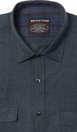 Полуприталенная фланелевая рубашка с шерстью KA9L5-2 - фото 10373