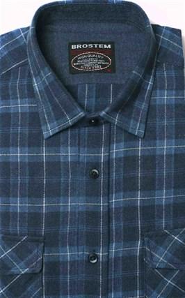 Полуприталенная фланелевая рубашка с шерстью KA9L5-3 - фото 10376