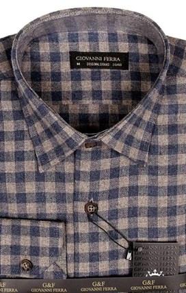 Фланелевая рубашка шерсть/хлопок AY 320-1 - фото 10443