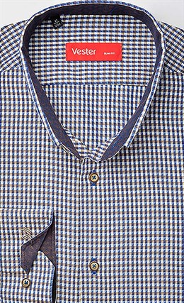 Рубашка приталенная VESTER 19414-11sp-20 - фото 10639