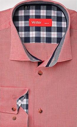 Рубашка розовая приталенная VESTER 21514-84sp-20 - фото 10671