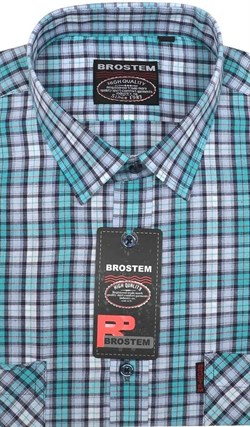 100% хлопок большая рубашка SH450-2g BROSTEM - фото 10725
