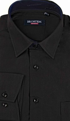 Большая черная рубашка CVC1g  BROSTEM - фото 10729
