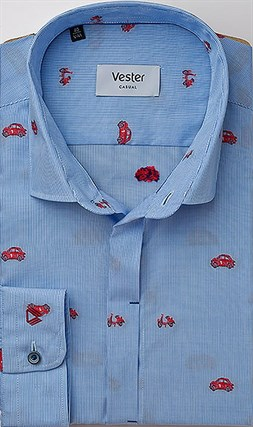 Рубашка 100% хлопок VESTER 24016-23sp-20 - фото 10801