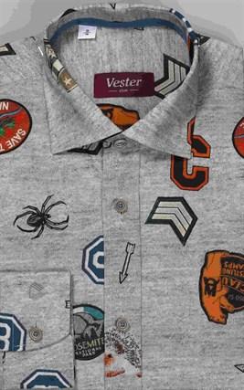 Школьная 100% хлопок сорочка VESTER 10616-03 - фото 10870