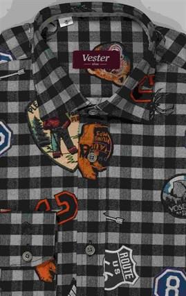 Школьная 100% хлопок сорочка VESTER 10616-05 - фото 10876
