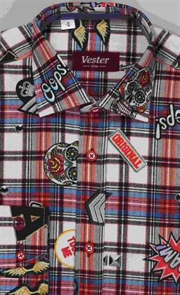 Школьная 100% хлопок сорочка VESTER 10616-07 - фото 10882