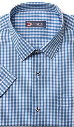 Полуприталенная рубашка с коротким рукавом BROSTEM 1SBR47-2s* - фото 11003