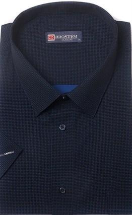 Большая хлопковая рубашка короткий рукав BROSTEM 1SG057-2 - фото 11011