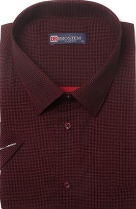 Большая хлопковая рубашка короткий рукав BROSTEM 1SG057-3 - фото 11013