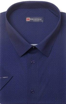 Большая хлопковая рубашка короткий рукав BROSTEM 1SG057-4 - фото 11015