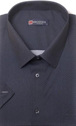 Большая хлопковая рубашка короткий рукав BROSTEM 1SG057-5 - фото 11017