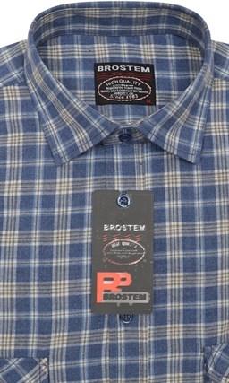 Фланелевая рубашка шерсть хлопок Brostem KA2441B - фото 11105