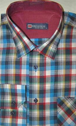 Мужская рубашка р.M Brostem лен/хлопок LN100-1 - фото 11356