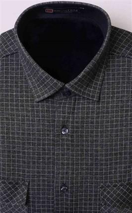 Зимняя на флисе серая рубашка BROSTEM MS2A1-98 - фото 11395