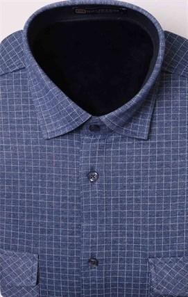 Утепленная флисом рубашка BROSTEM MS2A1-78 с карманами - фото 11403