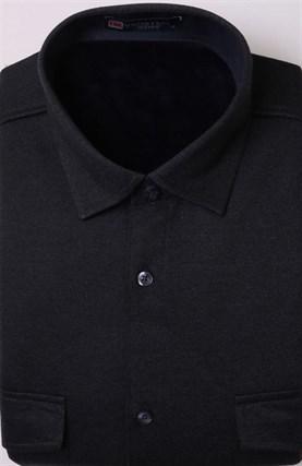 Теплая на флисе рубашка BROSTEM MS2A1-94 без клетки - фото 11407