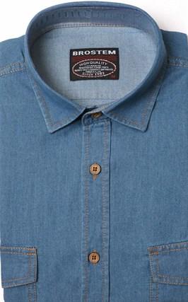 Джинсовая мужская рубашка BROSTEM MS2A10-D3 - фото 11409