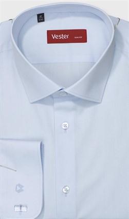 Голубая рубашка большого размера VESTER 707141-90w-21 - фото 11413