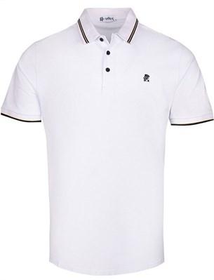 Рубашка поло 100% хлопок RETTEX 3925-3 белая - фото 11434