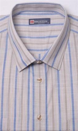 Лен с хлопком бежевая рубашка BROSTEM 1SG032-6 - фото 11491