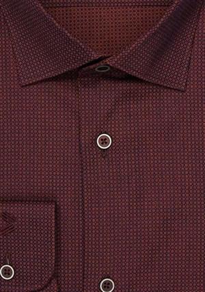 Бордовая рубашка 100% хлопок VESTER 13841-03sp-21 - фото 11503