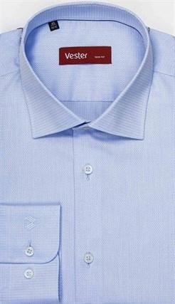 Голубая 100% хлопок рубашка VESTER 16341-06sp-21 - фото 11523