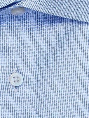 Голубая 100% хлопок рубашка VESTER 16341-07sp-21 - фото 11529