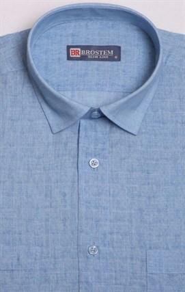 Рубашка лен с хлопком BROSTEM 1SBR129-3 - фото 11542