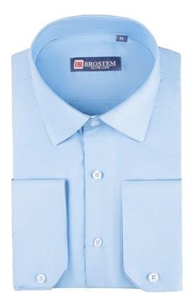 Приталенная рубашка р.S 4706 с модалом - фото 11614