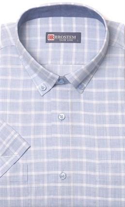 Летняя рубашка лен с хлопком BROSTEM 1SBR026-5 - фото 11644