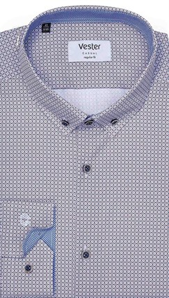 Длинный рост рубашка VESTER 19414L-14-56 - фото 11652