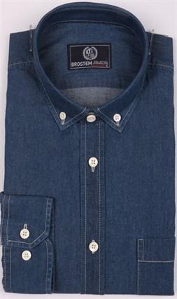 Рубашка джинсовая BROSTEM 1LBM15-1 полуприталенная - фото 11685